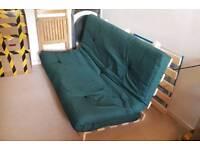 Sofa bed futon double size dark green