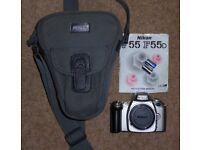 Nikon f55 35mm film camera body only.