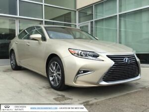 2016 Lexus ES 300h NAV/BLIND SPOT/LANE DEPARTURE/HEATED AND COOL