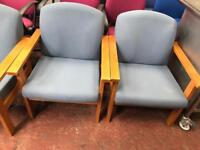 Powder Blue Seating with Beech Arms