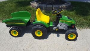 Pergo John Deere Tractor and Wagon