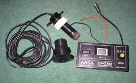 NASA Sting Ray speed / distance. With transducer & cables, good working order .