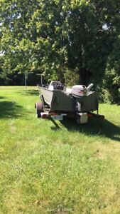 Lund Fishing Boat and trailer