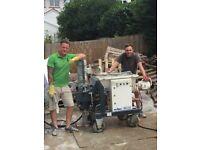 Spray Rendering Machine operatives