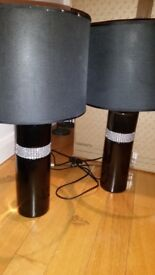 Pair of Beautiful black table lamps