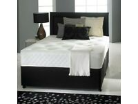 NEW SINGLE , DOUBLE, SMALL DOUBLE, KING SIZE, SUPER KING SIZE DIVAN BED WITH MATTRESS