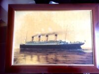 Titanic framed ..picture