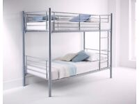 💗💖 Cheapest Price Ever💗💖 Brand New Single Metal Bunk Bed & 9INCH Deep Quilt Mattresses