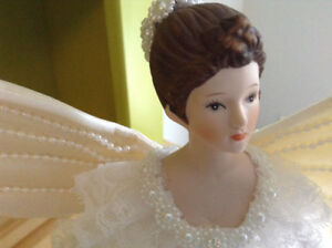 Vintage Porcelain Angel tree topper