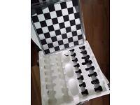 Glass Chess Set (black&white)