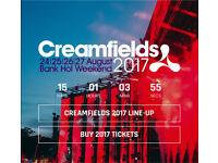 X2 4 day standard creamfields ticket !!!