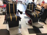 Leather Italian barber/salon chairs