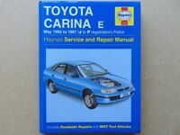 Toyota Carina E Petrol Haynes Repair Manual (Covers: May 92 - 97, J to P ) Used/Hardback