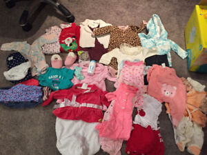 Box of Baby Girl Outfit- 0-3 months