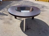 Large Dark Wenge Round Table FREE DELIVERY 532