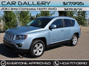 2014 Jeep Compass Sport/North AWD w/Leather $109B/W YOU'RE APPRO