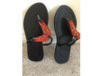 Gorgeous Handcrafted Maasai Embellished Flip Flops Size 6