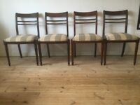 Vintage Style Dining Chairs x4