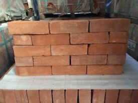 NEW 65MM HANDMADE SOFT RED (RED RUBBER) BRICKS