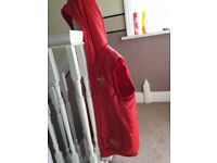 Red addidas chile 62 bomber jacket