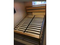Bensons for beds Hip Hop double oak frame & memory top mattres