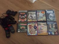 PLAYSTATION 2 GAMES BUNDLE PLUS SONY CONTROLLERS