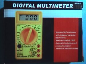 Digital Multi-meter AC/DC with diode & transistor test function