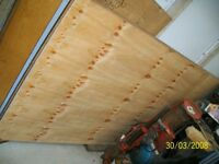 plywood sheet 8x4 18mm; 2 sheets dry stored