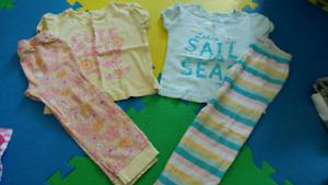 Girls short sleeved pyjamas (size 5)