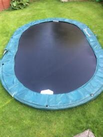 Large Oval Jumpking Trampoline 10' x 15' Good Condition