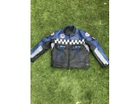 Childrens leather motocross jacket