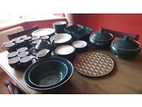 Denby Greenwich Tableware - Plates, Pasta Bowls, Cups, Mugs, Serving Dishes, Salad Bowls etc.