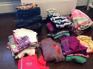 Size 7/8 lot of girls clothing