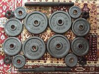Dumbbell weight set - adjustable 20kg metal dumbbell set