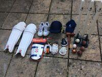 JUNIOR CRICKET SET - helmet, pads, gloves, shoes, stumps & more! *Woodworm *Reader *Gray Nicolls.