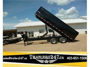 New 20ft Tandem Dual HD Gooseneck Dump