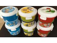 Six Kelloggs On-the-Go Cereal Pots