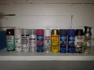 13 cans of spray paint for $60