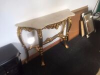 FRENCH LOUIS XV GILT WOOD ITALIAN ANTIQUE STYLE CONSOLE TABLE