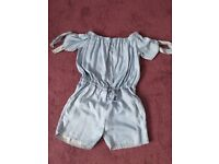 Women's denim playsuit