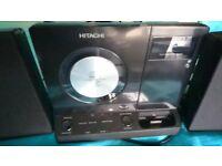 Hitachi micro system HiFi with CD, Radio, iPod dock, USB, MMC and SD card, 3.5mm jack capabilities.