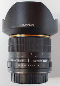 Superb Wide Angle Ronkinon 14mm f2.8 – Canon EF Mount