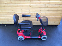 GO GO ULTRA MOBILITY SCOOTER RED WITH BASKET