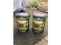 2 tins of Cuprinol - rustic brown