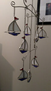 beautiful stained glass wind chime