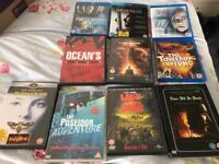 Collection of Blu rays and dvds