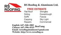 Rs roofing & aluminum call us today and get a free estimate