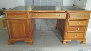 Exotic Wood Partners Desk