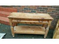 Mexicans solid pine hall table