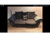 Black fabric sofa